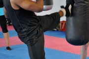 Heavy Bag Kicking